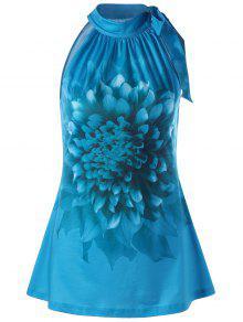الأزهار التعادل الرقبة تانك الأعلى - الطاووس الأزرق Xl