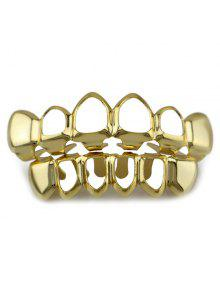 تجويف الهيب هوب الأعلى أسفل الأسنان جريلز مجموعة - ذهبي
