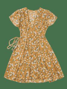 Mini Peque De Vestido Abrigo Amarillo M Floral o zIqOxnqp