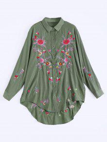 Yeşil Çiçekli Gömlek