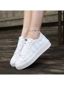 Tie Up Mesh Breathable Athletic Shoes