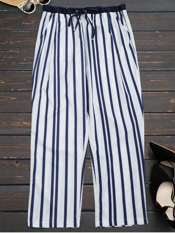online Stripes Narrow Feet Ninth Pants - STRIPE L