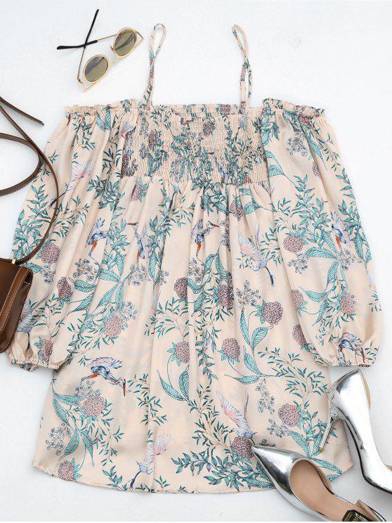 outfit Floral Print Cami Blouse - FLORAL L
