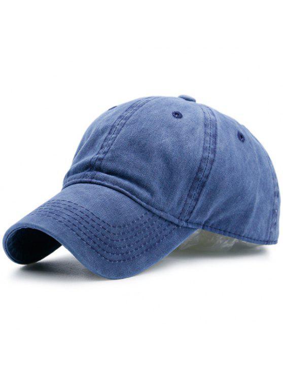 الحنين خط اللون التطريز قبعة بيسبول - أزرق