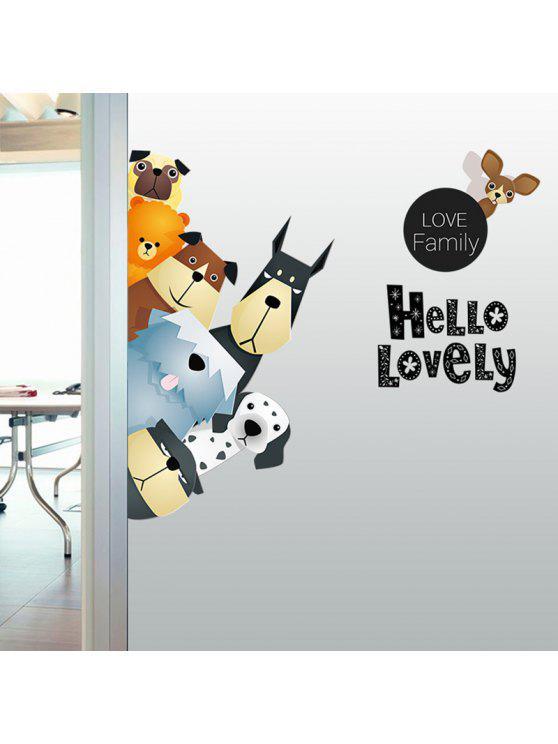 الحيوانات الأسرة الكرتون الفينيل الاطفال الجدار ملصق - Colormix 50 * 70CM