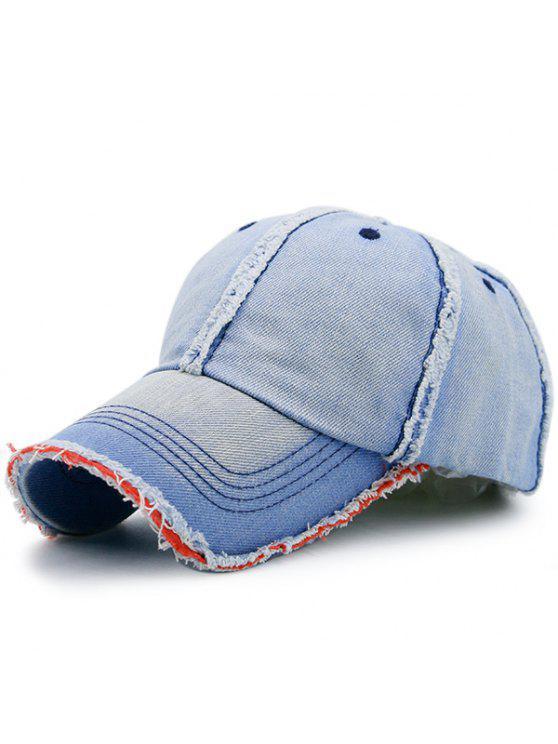 التدرج الاصطناعي الرملي حافة الدنيم قبعة البيسبول - أزرق سماوي