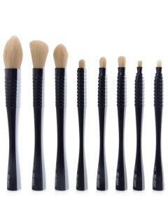 8Pcs Multipurpose Color Block Brushes Set - Blue And White