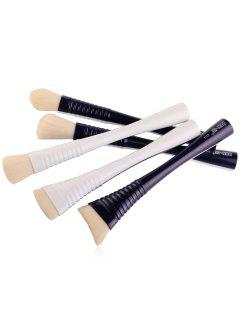 5Pcs Waisted Facial Makeup Brushes Set - Blue And White