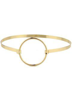 Alloy Round Circle Choker Necklace - Golden