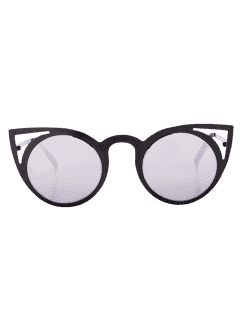 Gafas De Sol Anti UV Kitten Eye Con Caja - Negro