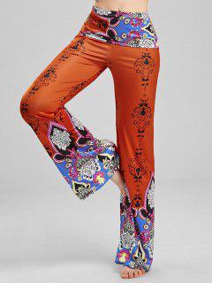 Pantalones Gaucho Impreso - Rojo L