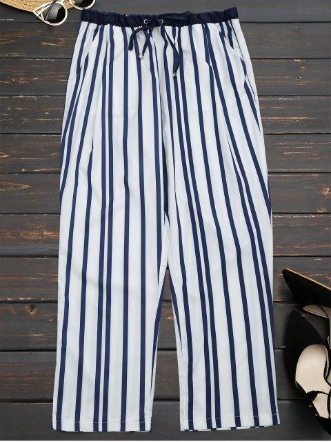 online Stripes Narrow Feet Ninth Pants - STRIPE L Mobile