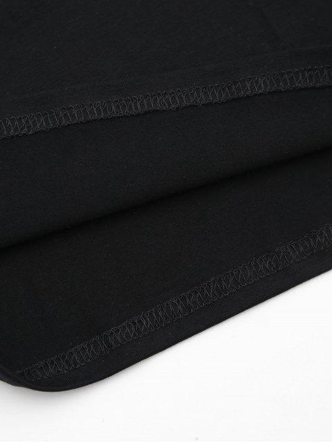 women's Cami Stripes Panel Tank Top - BLACK S Mobile