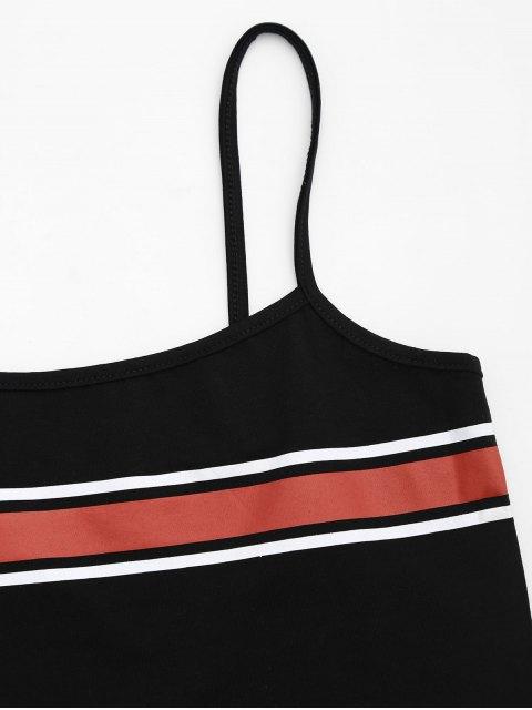 Cami Stripes Panneau Débardeur - Noir S Mobile