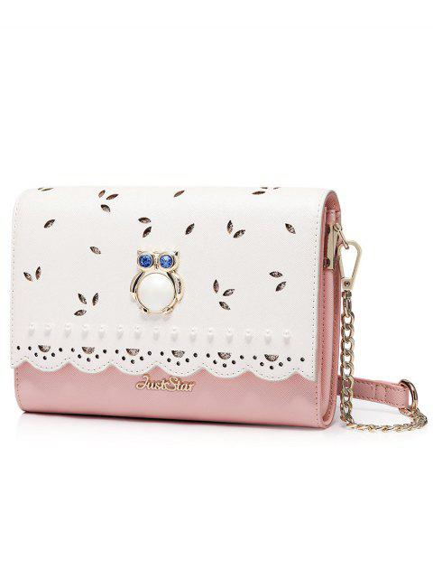 Owl Cut Out Scalloped Crossbody Bag - ROSE PÂLE  Mobile