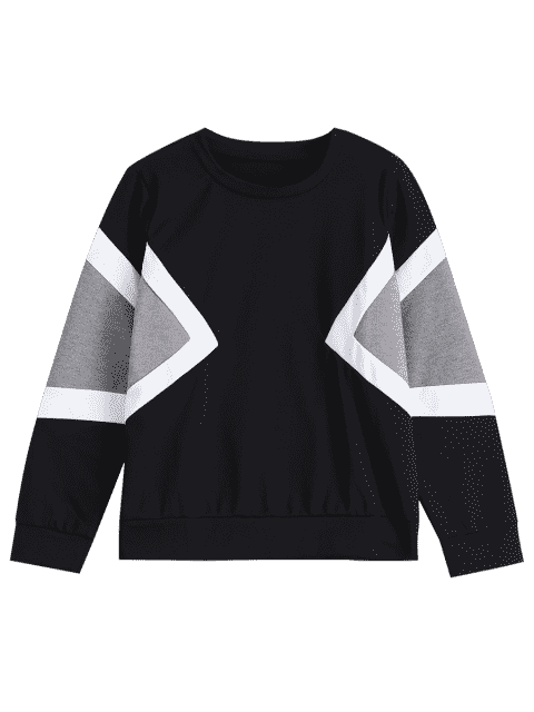 Contraste manches longues Sweatshirt - Multi TAILLE MOYENNE Mobile