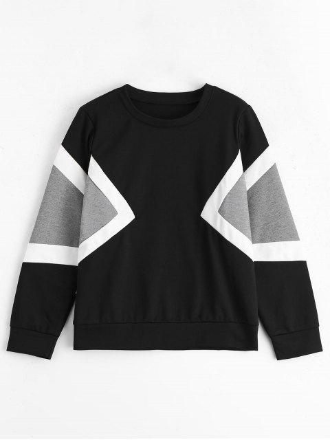 Sweatshirt à Manches Longues Contrasté - Multi TAILLE MOYENNE Mobile