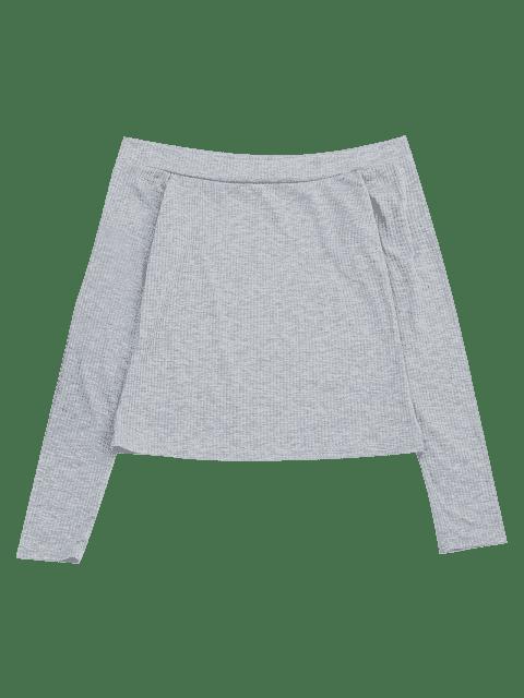 T-shirt à manches longues à manches longues - Gris M Mobile