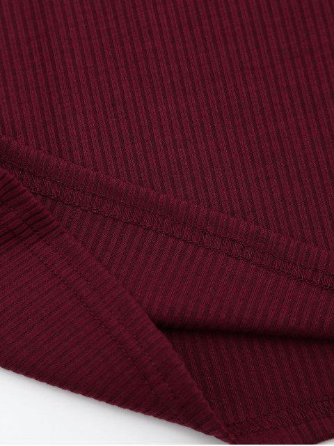 T-shirt à manches longues à manches longues - Rouge Foncé L Mobile