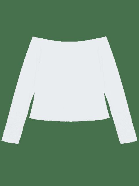 T-shirt à manches longues à manches longues - Blanc M Mobile