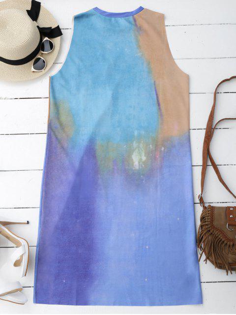 unique Casual Tie Dyed Midi Dress - MULTICOLOR M Mobile