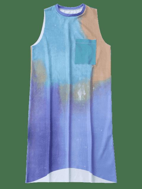 Robe décontractée à manches longues - Multicouleur L Mobile