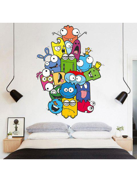 fashion Removable Vinyl Cartoon Nursery Wall Sticker - COLORMIX 50*70CM Mobile
