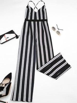 Combinaison à Jambe Large Criss Cross Stripes - Rayure M
