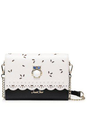 Owl Cut Out Scalloped Crossbody Bag