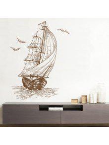 رسم الإبحار ديكور الفينيل الجدار ملصق - كميت 40 * 60cm