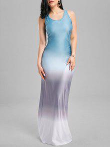 فستان سترة مطوي أومبير روسيرباك ماكسي - أزرق L