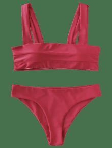 Red Bandeau Bikini