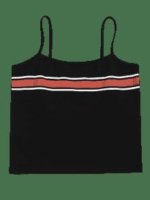 Tank M Stripes Negro Panel Cami Top Eqxw0F78E