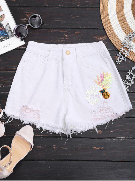 Pantalones de mezclilla Riñonados - Blanco Única Talla