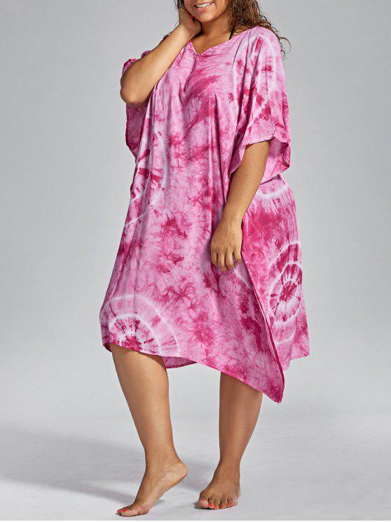 باتوينغ الأكمام بالاضافة الى حجم اللباس التستر - زهري حجم واحد