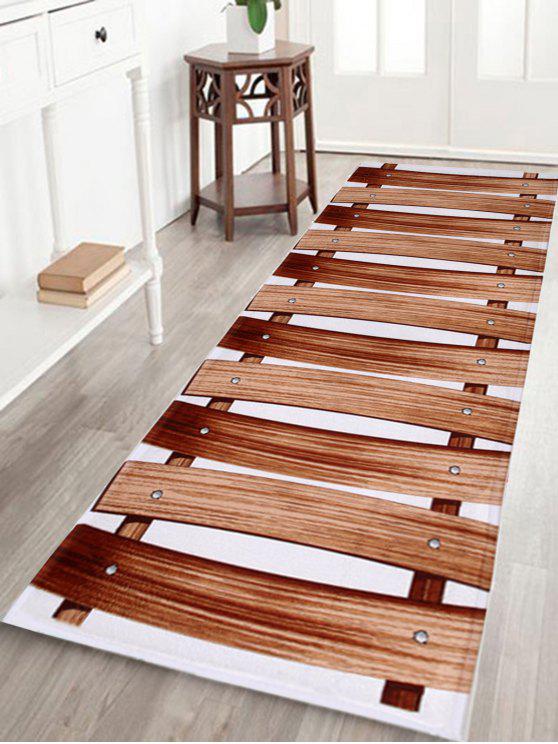 خشبي جسر المرجان الصوف المطبخ حمام البساط - BROWN W16 بوصة * L47 بوصة