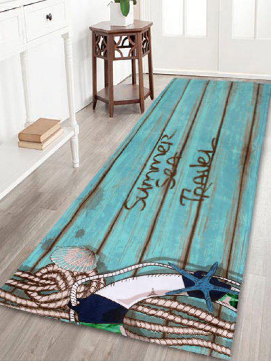 الخشب الحبوب امتصاص لينة المرجان الصوف منطقة البساط - البحيرة الزرقاء W24 INCH * L71 INCH