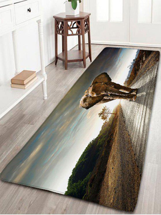 المشي الفيل طباعة عدم الانزلاق البساط حمام الفانيلا - Colormix W16 بوصة * L47 بوصة