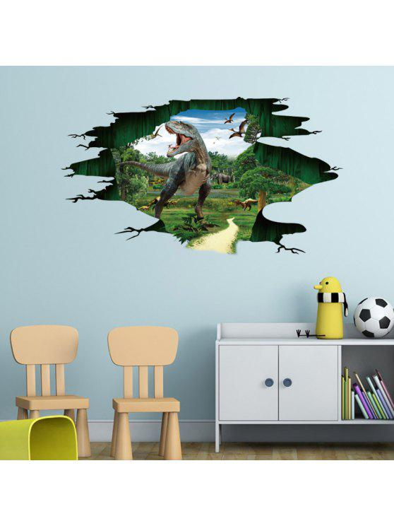 3d الديناصورات الجوراسي الجدار ملصق للأطفال - أخضر 60 * 90CM