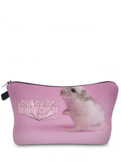 Animal Printed Makeup Bag - Pink