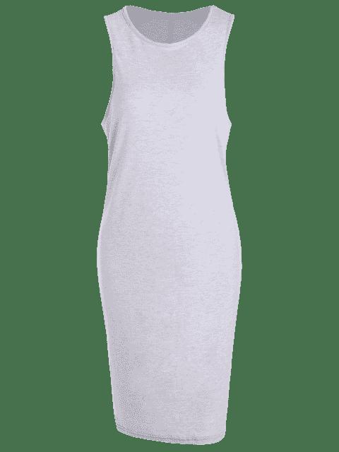 Robe de cérémonie décontractée - Gris Clair 4XL Mobile