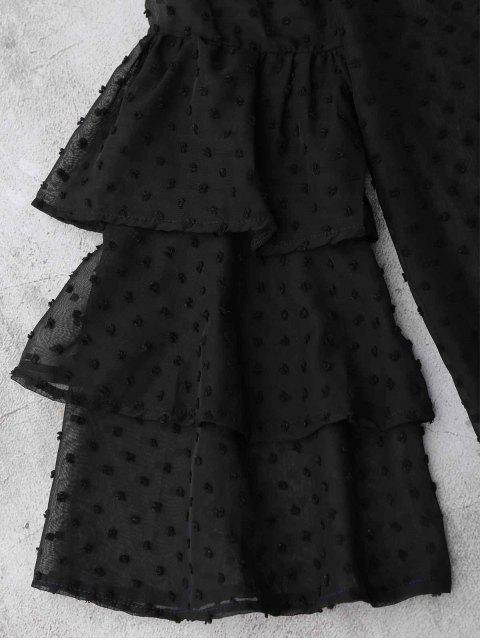 Top Sheppe Plumetis Bell Sleeve Top - Noir L Mobile
