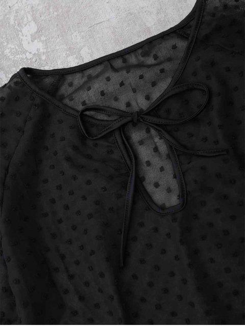 Top Sheppe Plumetis Bell Sleeve Top - Noir M Mobile