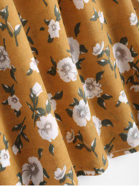 Tiny Floral Off Shoulder Blouse - Curcumae L Mobile