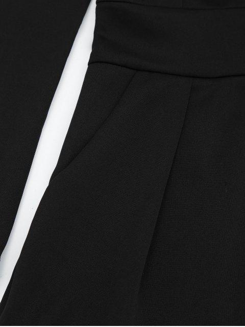 Plunging Neck manches longues Pocket Romper - Noir XL Mobile