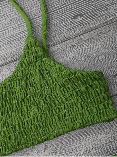 outfits Smocked Bikini Top and Bottoms - GRASS GREEN M Mobile