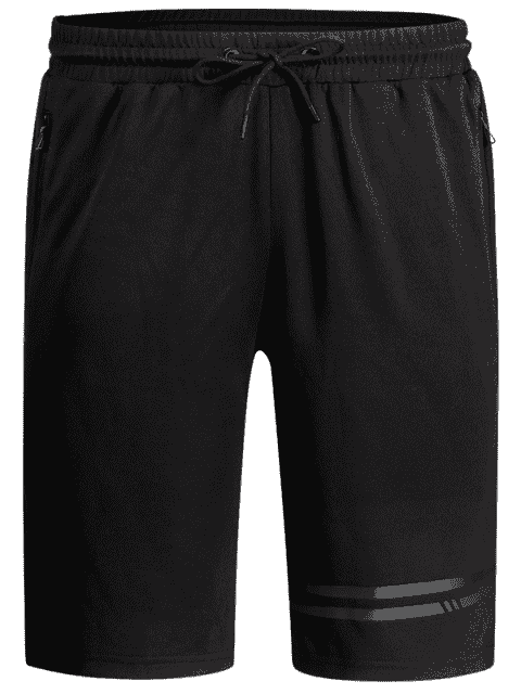 lady Seamless Zip Pocket Drawstring Shorts - BLACK XL Mobile