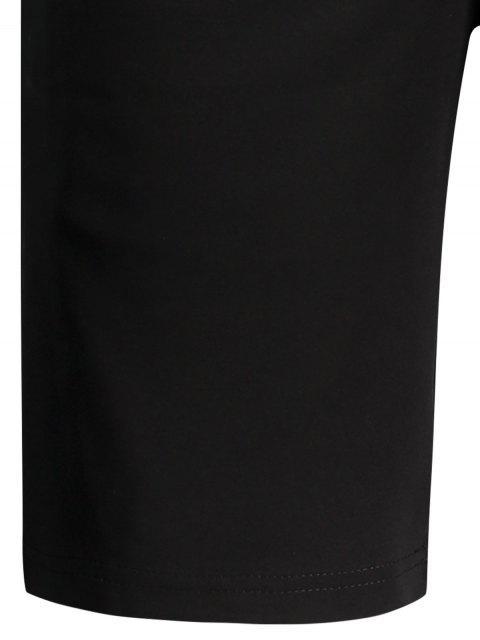 hot Zip Pocket Drawstring Sport Shorts - BLACK 3XL Mobile