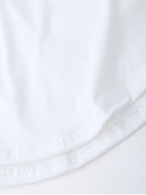 fashion Star Letter Print Raglan Sleeve Tee - WHITE L Mobile