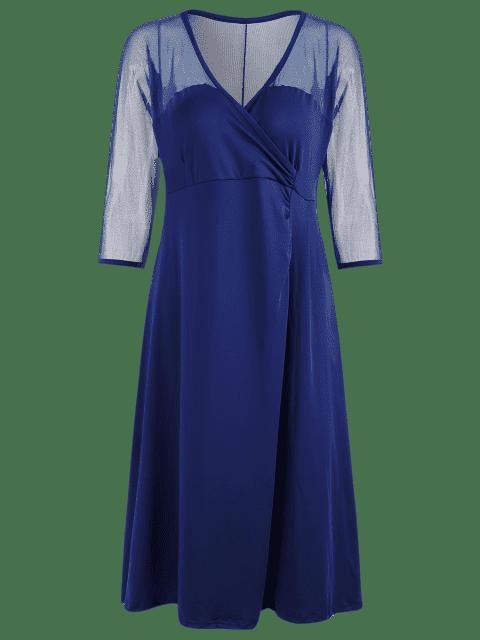 Robe de survêtement de style Voile Panel Plus - Bleu 3XL Mobile